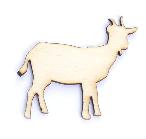 Koza ze dřeva (obrys) - šíře 5 cm