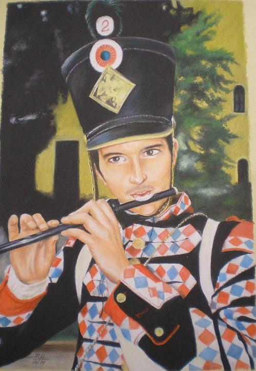 Vojáček od Chlumce - suchý pastel