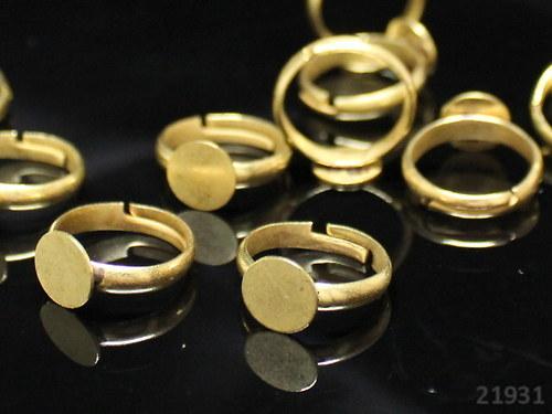 21931-10 Prsten základ lůžko 8mm ZLATÝ,MEGA 10ks