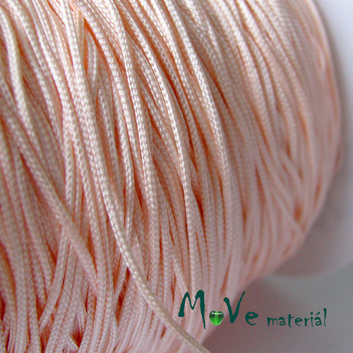 Nylonová pletená šňůra - 1mm/3m, lososová