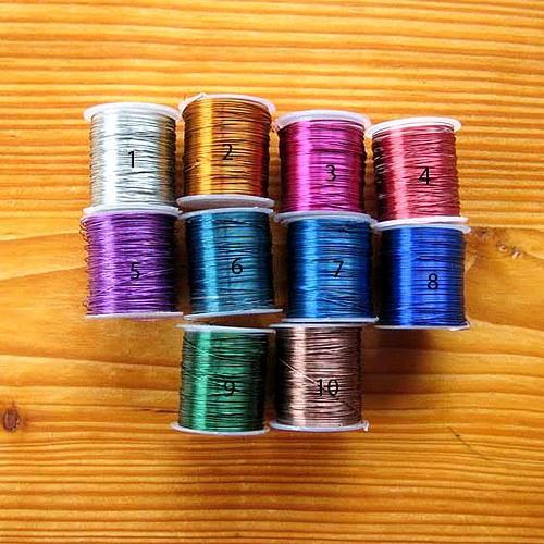 Bižuterní Drát 0,3mm č.7 - 10m - Světle Modrý