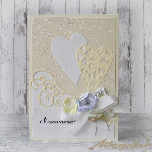 Dvě srdce -  svatební přáníčko