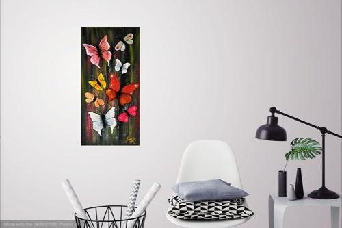 Pod motýlími křídly - Obraz na plátně
