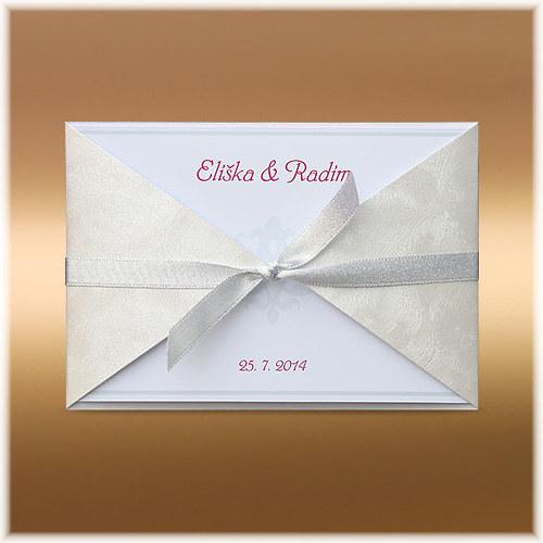 Elegantní svatební oznámení se stuhou