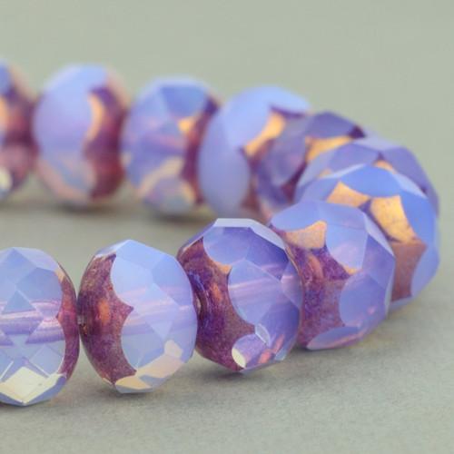 Rondelka levandulový opál 9x6mm