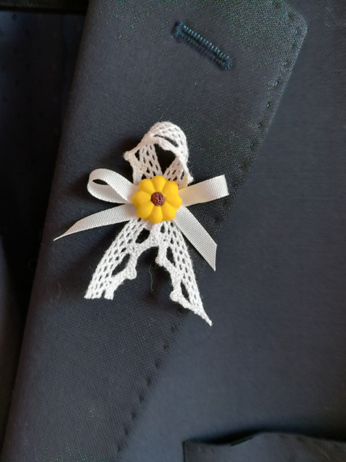 Svatební vývazek slunečnicový 3