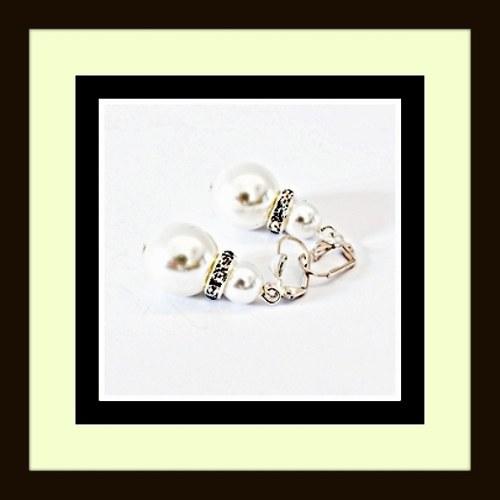 White pearl náušnice