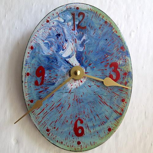 Smaltované hodiny 87