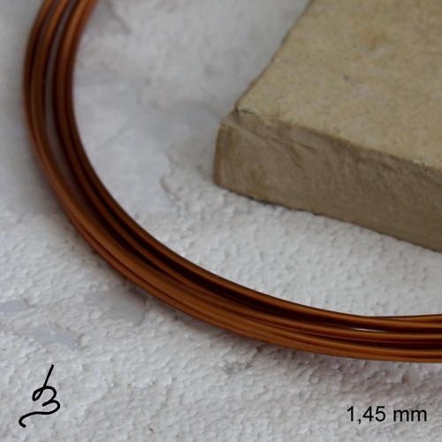 Měděný drát 1,48 mm lakovaný - 2 m