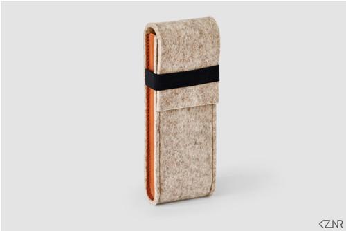 Rovaniemi Pen Case / Medium Natural & Camel / M