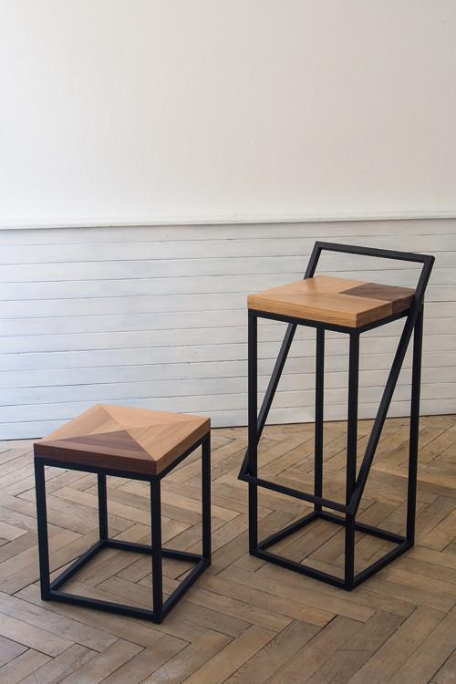 Stolička Intarsia Chair