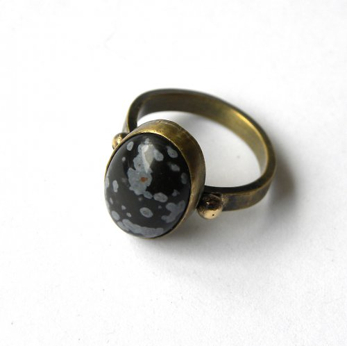 prsten ... obsidián