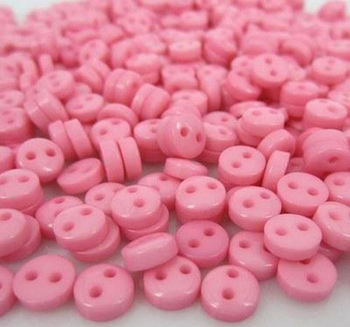 knoflík SUPERMINI  10 ks růžový