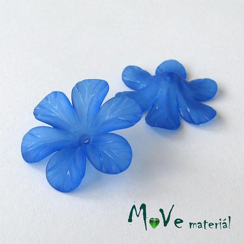 Akrylový květ 30mm, 2ks, stř. modrý