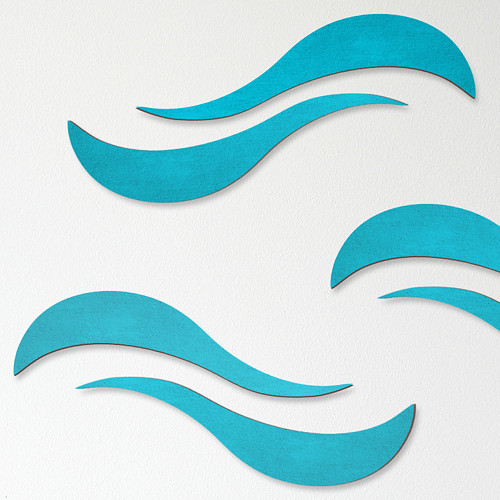 Vlnky (design II) - dekorace na zeď