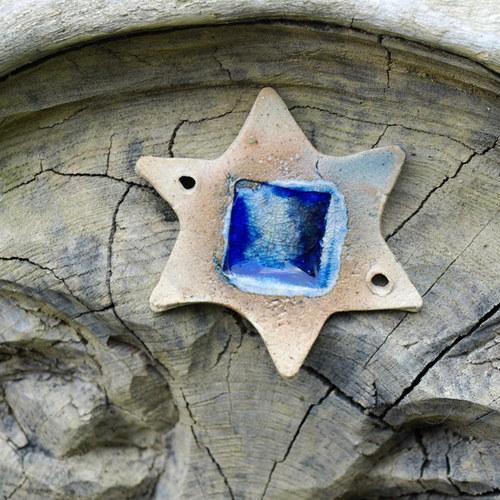 Hvězda - modré sklo