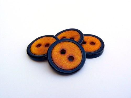 Knoflík Orange&Black