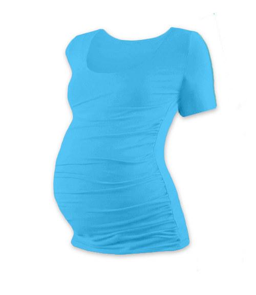 Těhotenské tričko KR tyrkysové