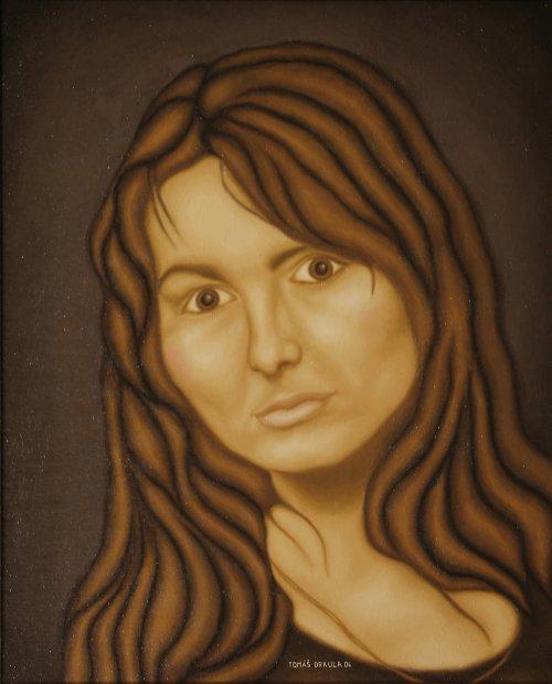 Dívčí portrét - reprodukce obrazu