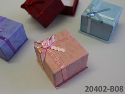 20402-B08 Dárková krabička na prstýnek, RŮŽOVÁ