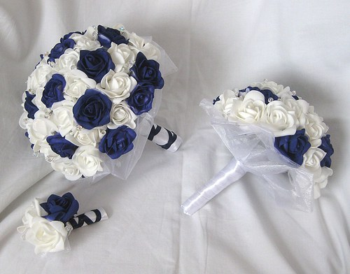 Svatební set - jednoduchá tmavě modrá na přání