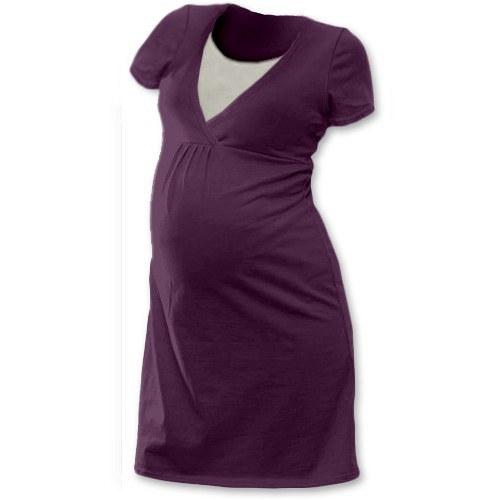 Noční košile pro kojící maminky- švestková