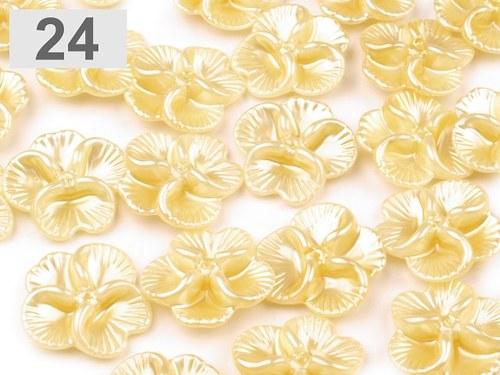 Korálky květinka Ø26mm-5ks