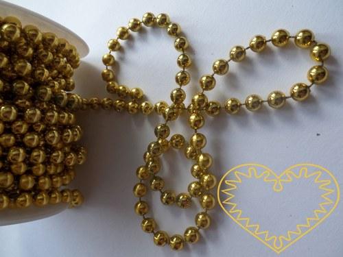 Zlaté korálky Ø 8 mm - řetěz