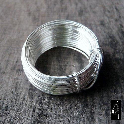 Postříbřený drát 0,8, 5 m