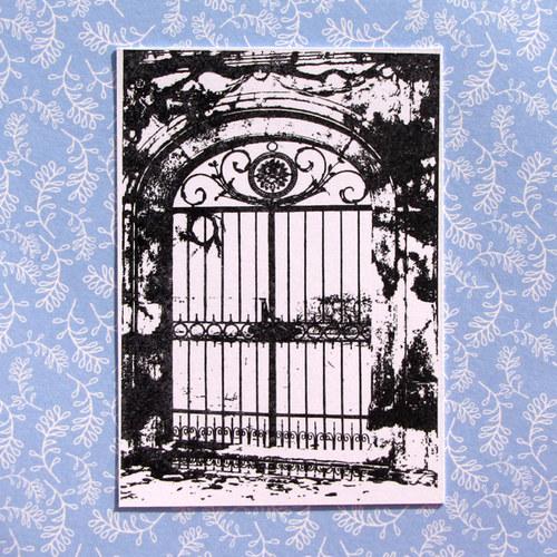 Kovaná brána (inkoust. otisk)
