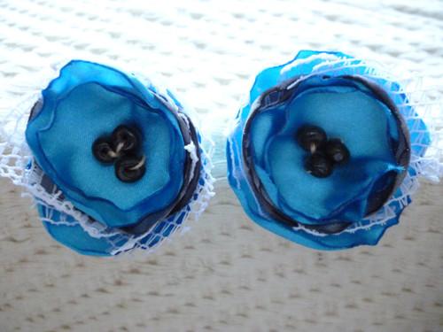 Náušničky květ textilní