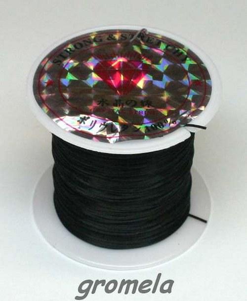 Pruženka plochá - 1 mm černá