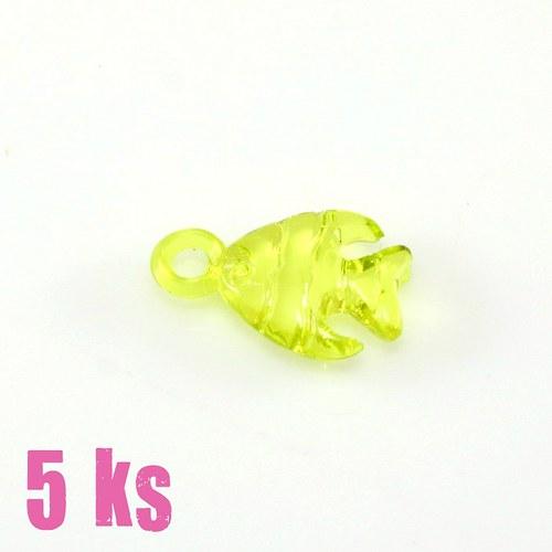 Žlutozelená rybka, 5 ks