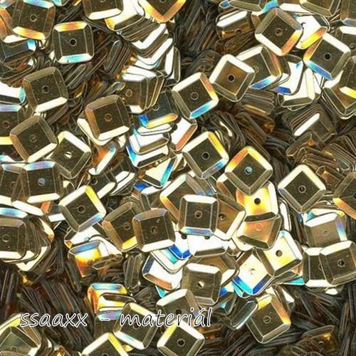 Flitry miska ~ čtverec 6x6mm ~ 3g ~ zlaté