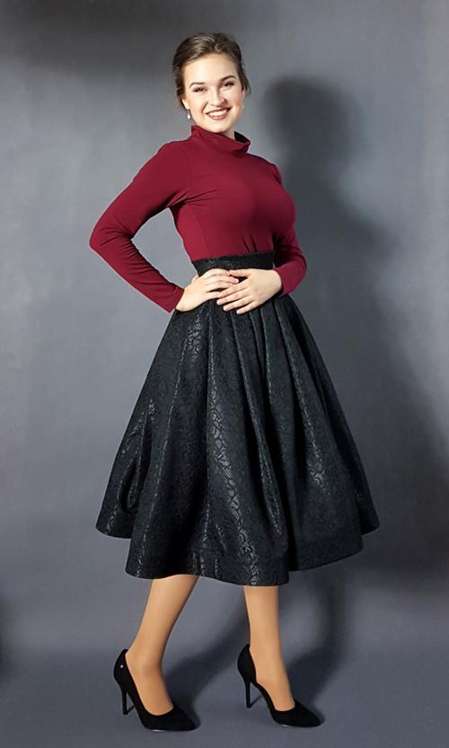 Retro sukně krajková společenská