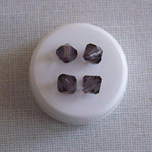 korálky jehlany/ akryl/ černé/ 8mm/ 30ks
