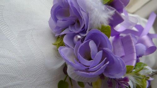 Květinový náramek fialková romance II.