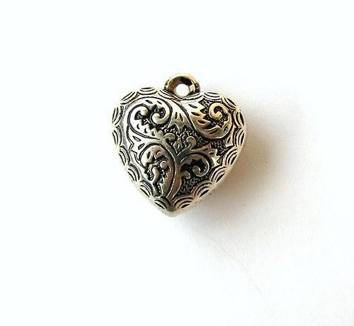 Přívěsek srdce - 1 kus