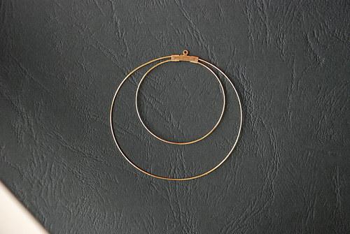 Dvojitá kreole - zlatá