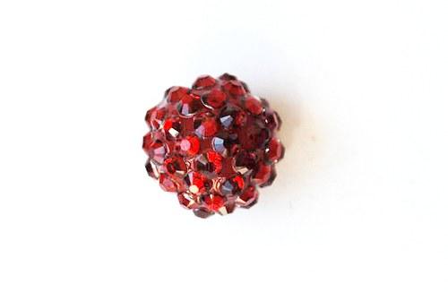 kulička 16mm- sytě červená