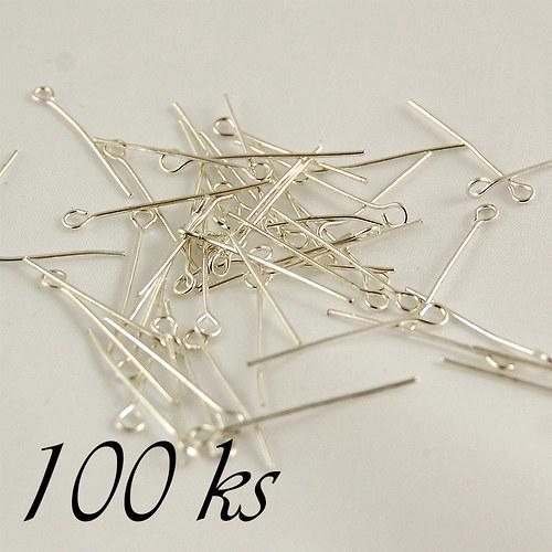 Ketlovací jehly stříbrné barvy 45mm - 100ks