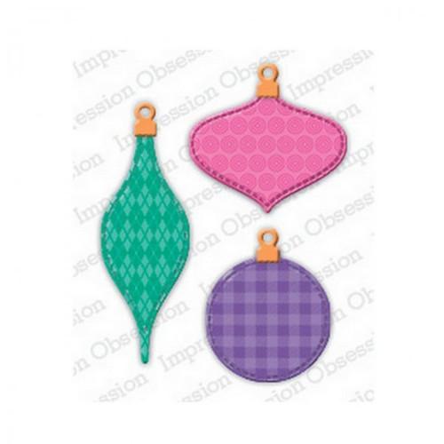 Kov. vyřez.šablony IO Stamps / Patchwork Ornaments