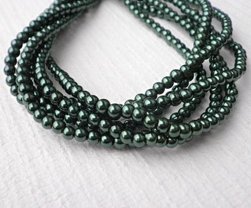 Perličky voskovky zelené, 4mm - 20ks