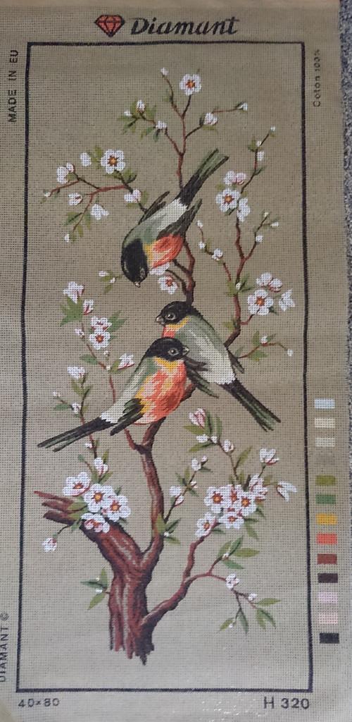 Předloha na vyšívání - ptáčci