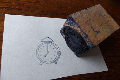 Budík...staré tiskátko, razítko