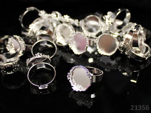 21356 Prsten.základ STŘÍBNÝ s ozdob. lůžkem, á 1ks