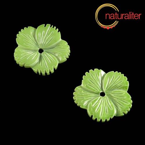 Perleťový květ 24mm zelený