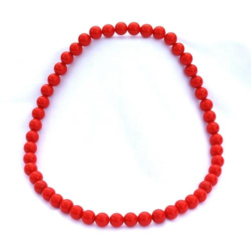 Červené menší korále na krk