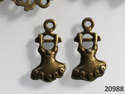 20988 Vintage přívěšek ŠATY 20/11, bal.2ks