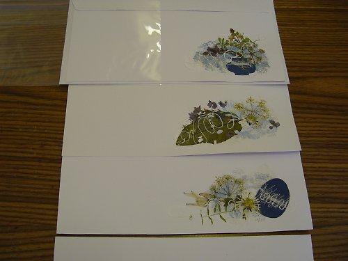 Přání do obálky s lisovanými květy
